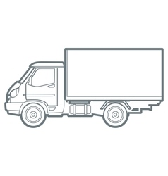 outline truck vector image