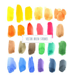 rainbow varied watercolor hand painted brush vector image