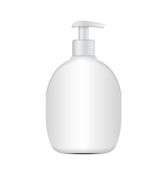 Realistic cosmetic plastic bottle mockup vector