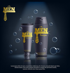 realistic male cosmetics composition vector image