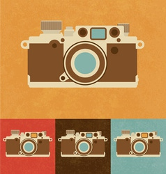 Retro Camera Icon vector image