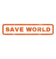 Save World Rubber Stamp vector image