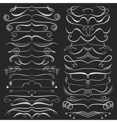 Set of hand drawn doodle design elements on vector image