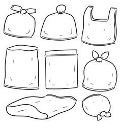 set of plastic bag vector image