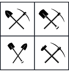 Set of tools for excavation vector