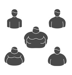 shape classification obesity level and vector image