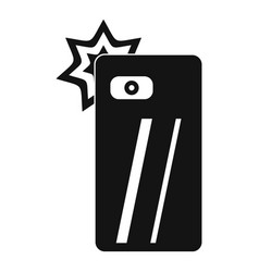 smartphone selfie flash icon simple style vector image
