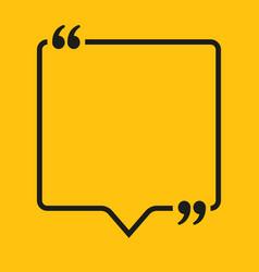 Speech bubble square empty quote bracket vector