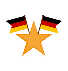 star shape with a pair of flags of germany vector image