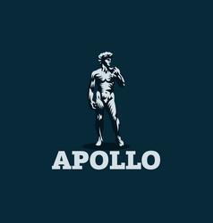 statue david or apollo vector image