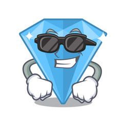 Super cool sapphire gems in cartoon shape vector