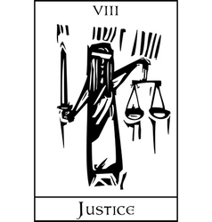 Tarot Card Justice vector