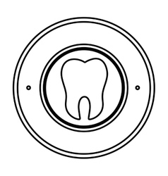 Teeth emblem isolated icon vector