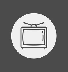 television icon sign symbol vector image