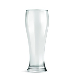 Traditional beer glass empty isolated on w vector