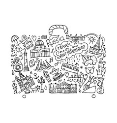 Travel to saint petersburg sketch for your design vector