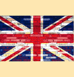 union flag on a brick wall background vector image
