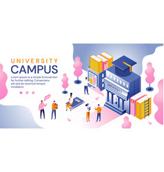 University campus in an education concept vector