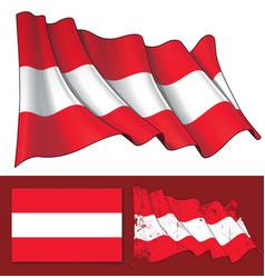 waving flag of austria vector image