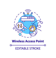 Wireless access point concept icon vector