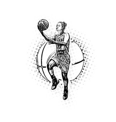 Womens basketball vector