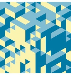 Abstract 3d background Wall of cubes vector image vector image