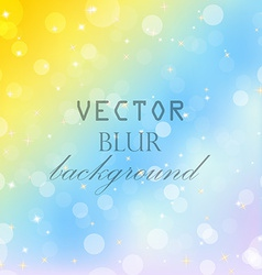 Abstract blur bokeh bright color background vector image
