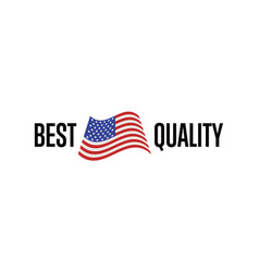 best quality isolated label for usa products vector image vector image