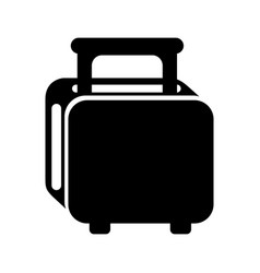 Black bread toaster graphic design vector
