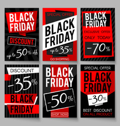 black friday sale advertising posters vector image vector image