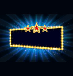 cinema gold banner vector image