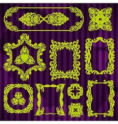 decorative doodle vintage borders set vector image