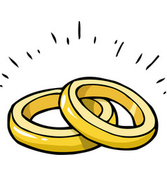 doodle marriage rings vector image