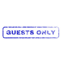 guests only rubber stamp vector image vector image