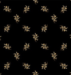 seamless pattern of gold vector image