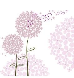 abstract springtime purple hydrangea flower vector image vector image