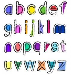 small alphabet vector image
