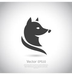 Stylized fox head icon vector image