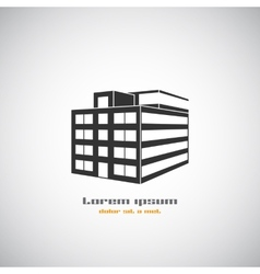 Abstract architecture building silhouette logo vector image vector image