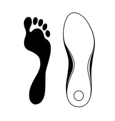 Black outlined sneaker shoe sole vector image