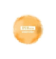Orange watercolor stain vector