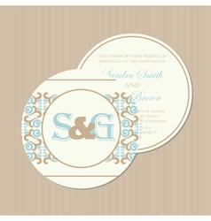 Round wedding invitation vector