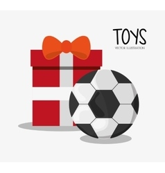 Soccer ball toy and game design vector image