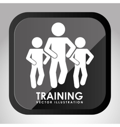 training button design vector image vector image