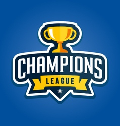 Champions league emblem vector image