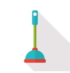 flat toilet plunger icon vector image vector image