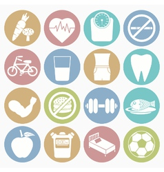 white icons health vector image vector image