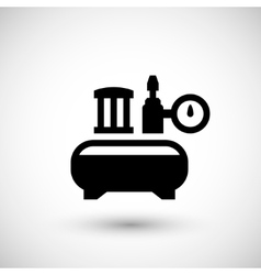 Air compressor icon vector image