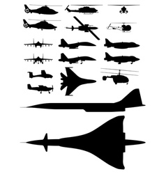 aircrafts vector image