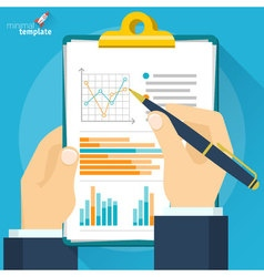 Analytic research and report mock up vector image